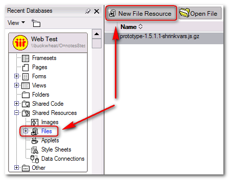 New File Resource Button