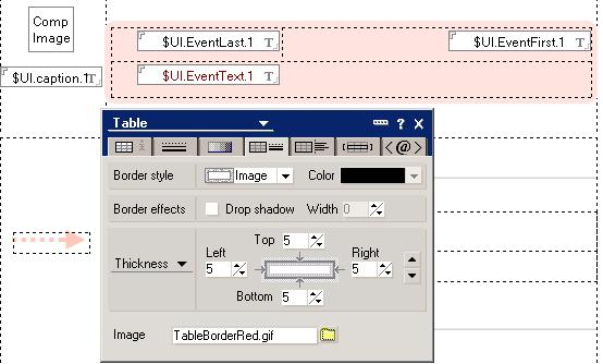 Rounded table design in DDM database